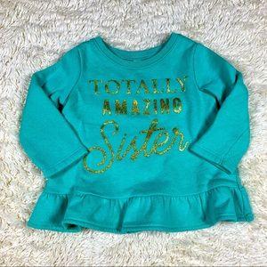 Carter's Teal Sweatshirt
